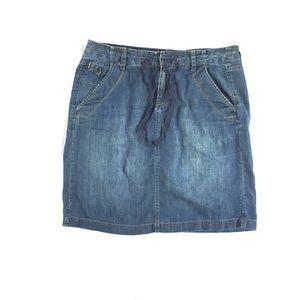 Eddie Bauer denim jean skirt size 8